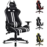 ALFORDSON Gaming Chair Racing Chair Executive Sport Office Chair with 4D Armrest and U-Shape Headrest PU Leather Home Chair (