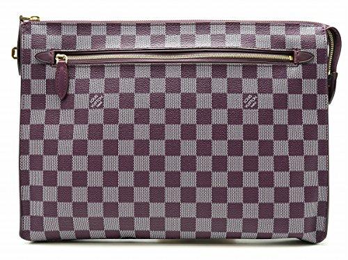 [ルイ ヴィトン] LOUIS VUITTON ダミエ カラー キット iPadケース クラッチバッグ セカンドバッグ ケッチュ 紫 パープル N41313 [中古]