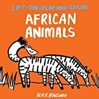 Lift-the-flap and Color African Animals