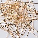 【パールクリエイト】Tピン 30ミリ 400本 大量 セール ゴールド アクセサリーパーツ ハンドメイド 手芸材料 手芸用品