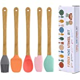 Silicone Spatula Baking Mini Silicone Spatula Set for Cooking Baking or Reaching Kitchen Utensil Silicone Spatula Easy to Cle