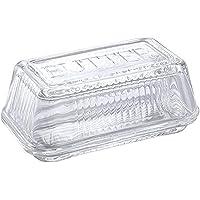 SALUS ガラス製 バターディッシュ 17cm