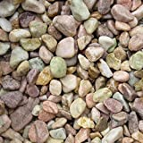 天然石 玉石砂利 1-2cm 20kg ピーチピンク (ガーデニングに最適 ピンク砂利)
