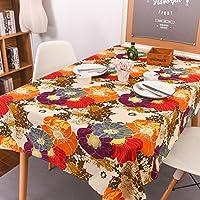 LIAN テーブルクロス西洋レトロ多目的テーブルクロスCheongsamラージフラワーコットンカバークロスファミリーダイニングテーブル装飾布 (色 : マルチカラー まるちから゜, サイズ さいず : 140 * 220cm)