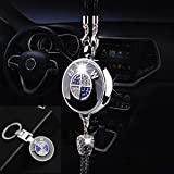 Car Logo Fragrance Air Freshener,Bling Diamond Car Rear View Mirrors Pendant and Car Keychain,Car Perfume Scent for Gifts Wom