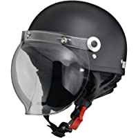 リード工業 バイクヘルメット ジェット CROSS バブルシールド付き ハーフマットブラック CR-760 -
