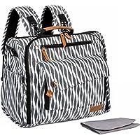 【ALLCAMP】 マザーズバッグ リュック 3WAY大容量 高品質 優しい材質 出産祝い 多機能 ベビーバッグ ママのバックパック オムツ替え用シート付 (ホワイト)