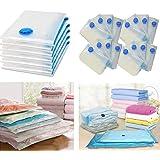 WINOMO 衣類圧縮袋 10枚組 70x50cm 衣類 枕 など 収納(透明)