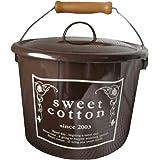 SweetCotton ホーローふた付バケツ (ブラウン)