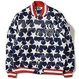Majestic マジェスティックク NEWYORK YANKEES ニューヨーク ヤンキース ALL OVER STARS STADIUM JACKET ジャケット MM23-NY0076-NVY5 NAVY