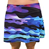 XrSzChic Tennis Golf Skirt Skort Athletic Exercise Print with Compression Short Pockets