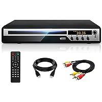 DVDプレーヤー Mic対応 1080Pサポート DVD/CD再生専用モデル HDMI端子搭載 CPRM対応、録画した番…