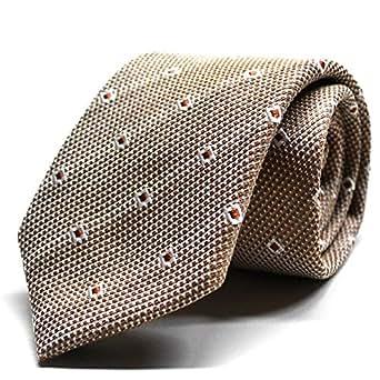 (スミスアンドスコット) Smith & Scott イタリア製生地 リネン ネクタイ 日本縫製 ライトブラウン