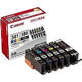 Canon 純正 インクカートリッジ BCI-381(BK/C/M/Y/GY)+380 6色マルチパック 小容量タイプ…