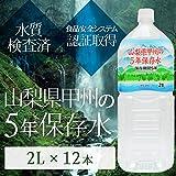 甲州の5年保存水 備蓄水 2L×12本(6本×2ケース) 非常災害備蓄用ミネラルウォーター ds-1656011