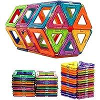 50個すべてMagnetic Construction Buildingブロック子供おもちゃ教育ブロック