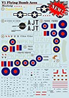 Decal for V - 1 Ace Mustang印刷スケール72 – 286