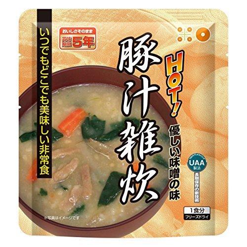 美味しい非常食 フリーズドライ 豚汁雑炊 /62-3137-27