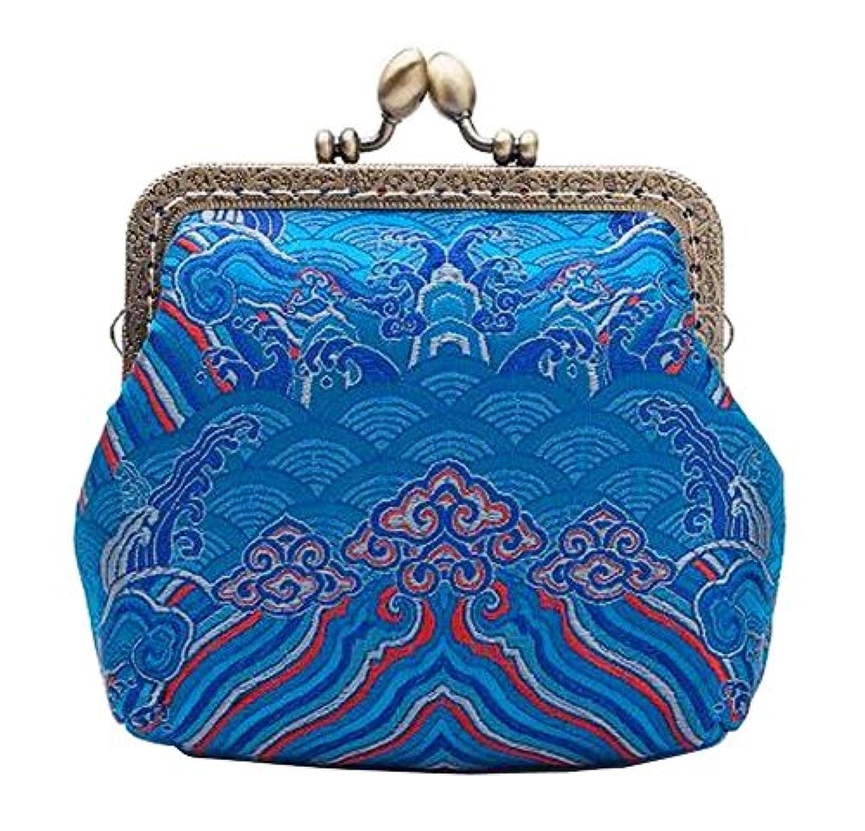 レディースバックルコイン財布小さな財布エレガントなクラッチポーチ、ブルー
