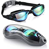 UV Protection Swim Goggles for Adults, Swimming Goggles with Protection Storage Case, No Leaking Anti-Fog Coated Design for W
