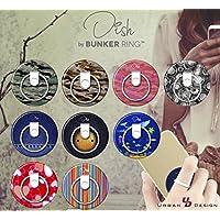 BUNKER RING Dish Print Deisgn【正規輸入品】各種スマートフォン対応・落下防止・スタンド機能・着脱可能 (STRIPE)