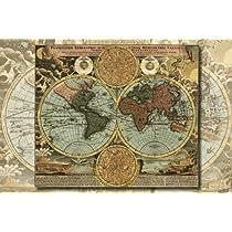 1000ピース めざせ!パズルの達人 ジ・アトラス 古地図 (50x75cm)