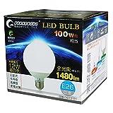 GOODGOODS LED 電球 E26口金 100W形相当 昼白色 ボール電球形 1480LM 消費電力12W 【PSE認証済み】 DQ12-01