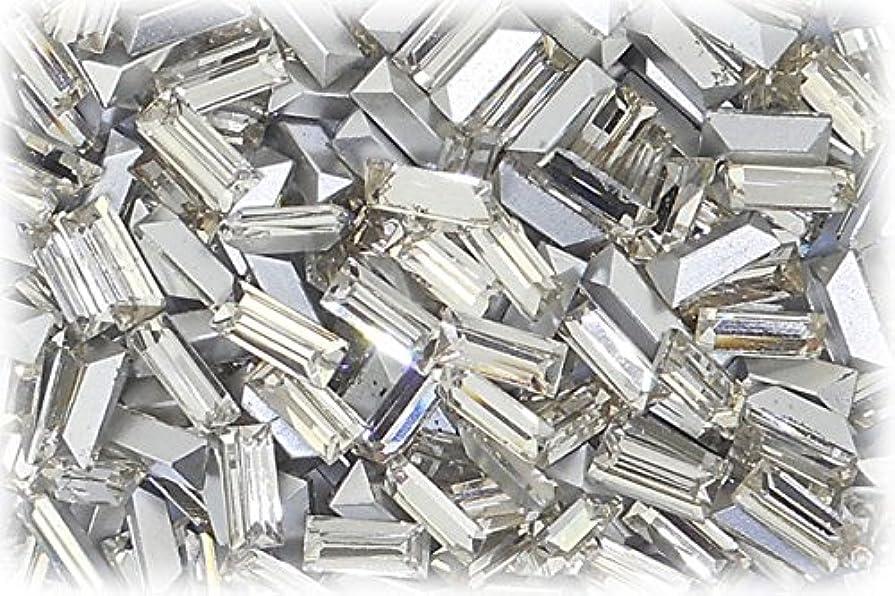 半導体熱なんとなくSHAREKI CRYSTAL Vカット チャトン ラインストーン バケット 四角形 クリスタル 3mmx7mm 5個入りx3セット=15個 cry-3x7