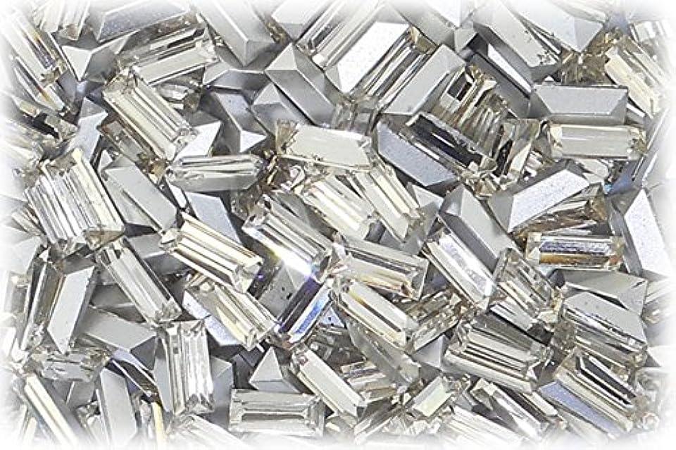 強制的刈り取るハンドブックSHAREKI CRYSTAL Vカット チャトン ラインストーン バケット 四角形 クリスタル 3mmx7mm 5個入りx3セット=15個 cry-3x7