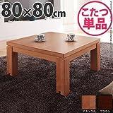 日用品 家具 キャスター付きこたつ 80×80cm こたつ テーブル 正方形 日本製 国産ローテーブル ナチュラル