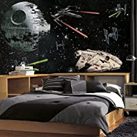 RoomMates jl1399 m Star Wars Vehicles XLチェアレールPrepasted壁画、ultra-strippable、6 ' x 10.5 '