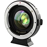VILTROX EF-M2 Focal Reducer Booster Adapter Auto-Focus 0.71x Canon EF Mount Series Lens to M43 Camera with USB Update Port