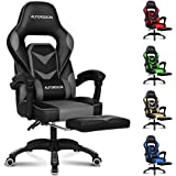 ALFORDSON Gaming Chair Racing Chair Executive Sport Gordon Office Chair with Footrest PU Leather Armrest Headrest Home Chair