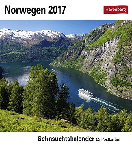Norwegen 2017: Sehnsuchtskalender. 53 Postkarten