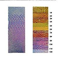 SHINAHUATONG スネークスキン パターン PUレザー シート DIYハンドバッグ用 45cm x 135cm バックパック ペンバッグ ヘアリボン ノートブック