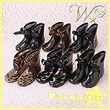(ダブルスター)W-STAR リボン レインブーツ シューズ 可愛い お洒落 かわいい 女の子 ガールズ こども キッズ 子供 靴 子供用 ブーツ 雨 長靴 水玉 ドット りぼん キラキラ ラメ ヒョウ柄 豹柄 レオパード 14 15 16 17 18 19