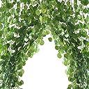 造花グリーン フェイクグリーン 人工観葉植物 12本入り 壁掛け ハンキング インテリア ホーム 宴会 飾り付けの造花アイビー 枯れないグリーン