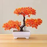 Simulation Artificial Flowers Fake Green Pot Welcoming Pine Bonsai Artificial Potted Plant Ornament Home Decor-19Cm X 26Cm,g