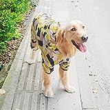 大型犬用 迷彩 紫外線防止花粉防止つなぎオーバーオール 4XLサイズ ワンコ服 犬服 ドッグウェア