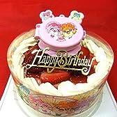 かみさまみならいヒミツのここたまケーキキャラデコ ・生クリーム苺デコレーションケーキ5号スライス苺2段サンド(バースデーオーナメント・キャンドル6本付き)