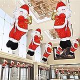 サンタクロースペンダント人形 吊り装飾用 イトサンタ 3D立体感 Zyurong クリスマスツリー飾り ドアの装飾 ホームインテリア クリスマスデコレーション ドアオーナメント インテリア飾りクリスマス雰囲気満載 単品