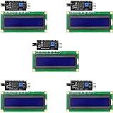 Aideepen 5個セット/16x2 キャラクタLCDディスプレイモジュール/I2C(IIC,TWI)シリアルインタフェース/バックライト付き/HD44780コントローラ Arduinoに対応 (1602 LCD 5V青)