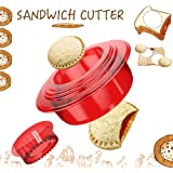 OHYGGE Sandwich Cutter and Sealer - Uncrustables Maker - Sandwich Cutter for Kids - Sandwich Sealer and Decruster for Boys an