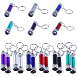 Antner 18pcs Mini Flashlights Keychain 5 Bulbs LED Keychain Toy for Kids Party Favors, Camping, Travel, Home or Office(Batter