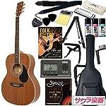 HONEY BEE ハニービー アコースティックギター フォークギタータイプ F-15/MH 初心者入門16点セット