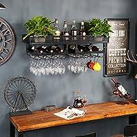ワインラック/ハンギングレッドワインカップホルダー/吊り下げガラスホルダー/クリエイティブホームバー/ワインラックハンギングガラスホルダー (色 : 黒, サイズ さいず : 100cm)