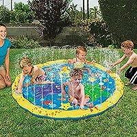 プレイマット ウォーター プレイ アウトドア 芝生遊び 水 夏の日 子供用 おもちゃ 噴水マット ふんすい 庭 家庭用 キッズ 水遊び 噴水池 噴水できる