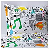 IKEA(イケア) SILVEROGA 掛け布団カバー&枕カバー, ホワイト, マルチカラー (30298886) - Best Reviews Guide