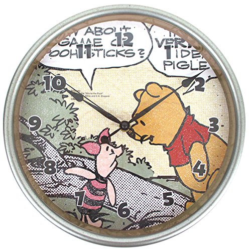 ディズニー 壁掛け時計 ヴィンテージウォールクロック アナログ表示 連続秒針 くまのプーさん DN5519013PO