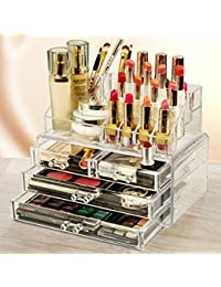 化粧品収納ボックス メイクケース コスメ収納スタンド コスメ収納ボックス 引き出し小物/化粧品入れ レディース  透明アクリル ジュエリーボックス 小物 収納 クリア アクセサリー